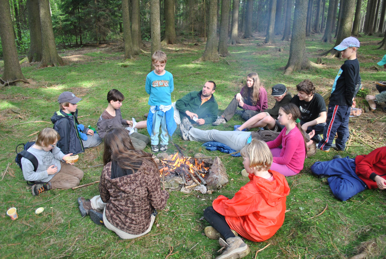 Oběd v lese