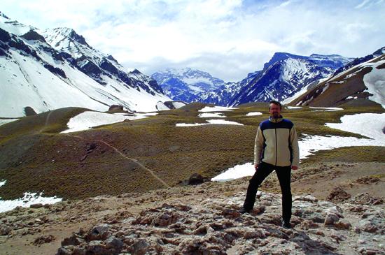 Petr Dvořák v horách