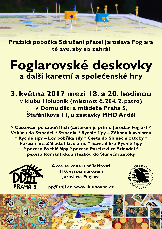 Pozvánka na foglarovské deskovky